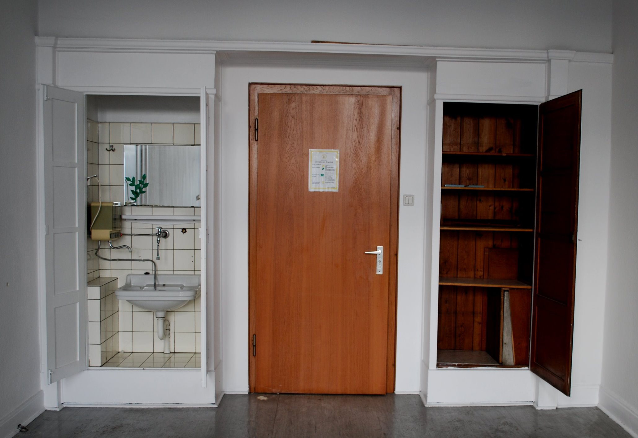 Hoesch Zentrale Konservierung Denkmalgeschutzter Einbauschranke